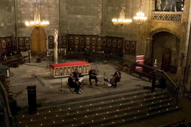 © Lena Herrgesell - Streichquartett auf dem Candlelight Konzert